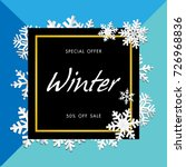 winter sale background with...   Shutterstock .eps vector #726968836