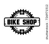 bike shop logo design.chain... | Shutterstock .eps vector #726971512