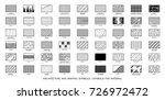 architectural technical symbols ... | Shutterstock .eps vector #726972472