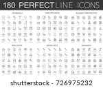 180 modern thin line icons set... | Shutterstock .eps vector #726975232