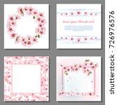 blossom round border  flower... | Shutterstock .eps vector #726976576
