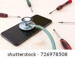 phone repair and service... | Shutterstock . vector #726978508