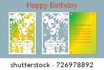 text   happy birthday. vector ... | Shutterstock .eps vector #726978892