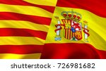 catalonia and spain flags.... | Shutterstock . vector #726981682