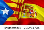 independence catalonia and... | Shutterstock . vector #726981736