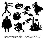 the black halloween  mystical... | Shutterstock .eps vector #726982732