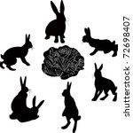 Symbol Hares Animals Cabbage...