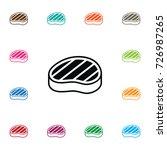 isolated sirloin icon. steak...   Shutterstock .eps vector #726987265