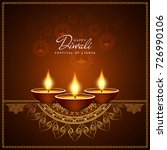 abstract happy diwali religious ... | Shutterstock .eps vector #726990106