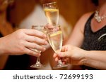 celebration. hands holding any... | Shutterstock . vector #72699193