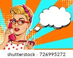 beautiful women on telephone... | Shutterstock .eps vector #726995272