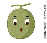 melon cartoon fruit vector | Shutterstock .eps vector #726997126