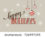happy holidays postcard... | Shutterstock . vector #726997195