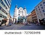 vienna  wien   austria ... | Shutterstock . vector #727003498