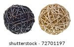 Woven Wicker Or Bamboo Balls...
