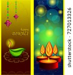 happy diwali background | Shutterstock .eps vector #727013326