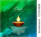 abstract artistic happy diwali... | Shutterstock .eps vector #727014808