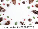 Flat Lay Christmas Greeting...