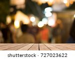 wood of brown on front blurred... | Shutterstock . vector #727023622