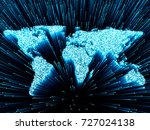 global world technology concept ... | Shutterstock . vector #727024138
