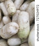Small photo of daikon radishes. raw daikon radishes harvest.