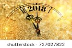 new year clock counting down... | Shutterstock . vector #727027822