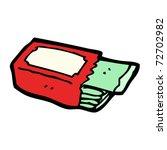 packet of chewing gum cartoon   Shutterstock .eps vector #72702982