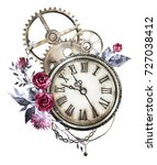 steam punk watercolor... | Shutterstock . vector #727038412