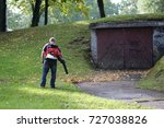 man at work on cleaning the...   Shutterstock . vector #727038826