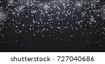 snowflakes  realistic christmas ... | Shutterstock .eps vector #727040686