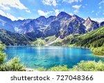 panoramic view of morskie oko... | Shutterstock . vector #727048366
