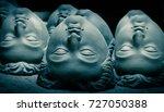 clay sculpture head  | Shutterstock . vector #727050388