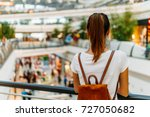 young woman exploring modern... | Shutterstock . vector #727050682