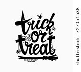 Trick Or Treat Lettering For...