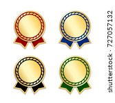 award ribbons isolated set....