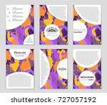 abstract vector layout... | Shutterstock .eps vector #727057192
