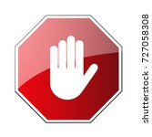 stop road sign. prohibited... | Shutterstock .eps vector #727058308