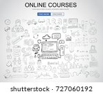 online courses concept with... | Shutterstock . vector #727060192