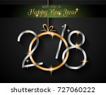 2018 happy new year background... | Shutterstock . vector #727060222