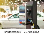electric vehicle charging  ev ... | Shutterstock . vector #727061365
