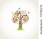beauty spring tree with...   Shutterstock .eps vector #72706276