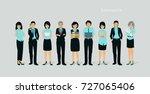 business team of men and women... | Shutterstock .eps vector #727065406