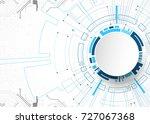 vector illustration  hi tech... | Shutterstock .eps vector #727067368