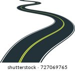 isolated road curves   clip art ... | Shutterstock .eps vector #727069765