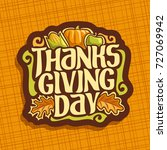 vector logo for thanksgiving... | Shutterstock .eps vector #727069942