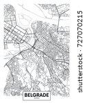 detailed vector poster city map ... | Shutterstock .eps vector #727070215