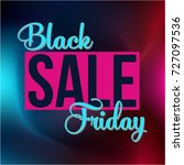 abstract vector black friday... | Shutterstock .eps vector #727097536
