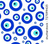 seamless pattern of amulet... | Shutterstock .eps vector #727099435