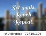 business motivational poster  ... | Shutterstock . vector #727101106