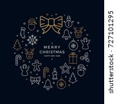 christmas wreath icons elements ... | Shutterstock .eps vector #727101295